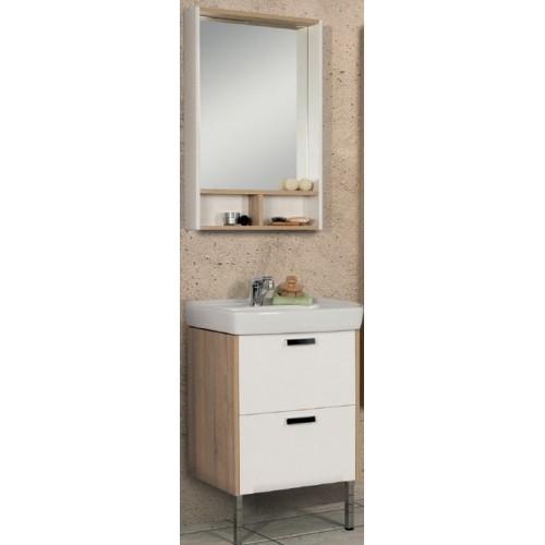 Мебель для ванной Акватон Йорк 55 напольная белая дуб сонома