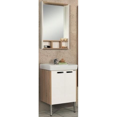 Мебель для ванной Акватон Йорк 60 напольная белая дуб сонома