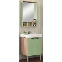 Мебель для ванной Акватон Йорк 60 напольная салатовая дуб сонома