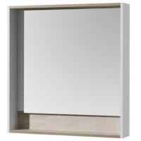 Зеркало Акватон Капри 80х85 1A230402KPDA0 с полочкой с подсветкой