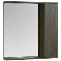 Зеркало-шкаф Акватон Стоун 80x83 1A228302SXC80 грецкий орех с подсветкой