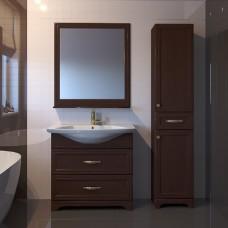 Мебель для ванной ASB-Woodline Берта 85 орех антикварный