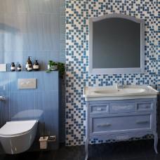 Мебель для ванной ASB-Woodline Модерн 105 рошфор, белая патина