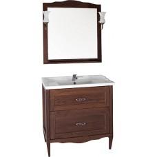 Мебель для ванной ASB-Woodline Римини Nuovo 80 антикварный орех