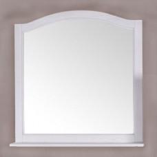 Зеркало ASB-Woodline Модерн 105 белое, патина серебро