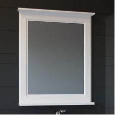 Зеркало ASB-Woodline Прато 70 белое, патина серебро