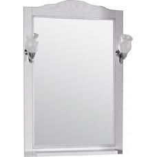 Зеркало ASB-Woodline Римини Nuovo 60 белое, патина серебро