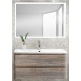 Мебель для ванной BelBagno Albano 100 подвесная pino scania с прямоугольным зеркалом