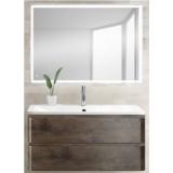 Мебель для ванной BelBagno Albano 100 подвесная rovere nature grigio с прямоугольным зеркалом