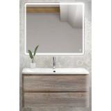 Мебель для ванной BelBagno Albano 80 подвесная pino scania с квадратным зеркалом с сенсорным выключателем