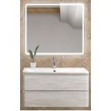 Мебель для ванной BelBagno Albano 80 подвесная rovere vintage bianco с квадратным зеркалом с электровыключателем