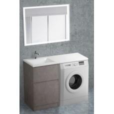 Мебель для ванной BelBagno Kraft-LVD 120 напольная левая pietra grigio