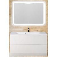 Мебель для ванной BelBagno Marino 120 напольная bianco lucido с закругленым зеркалом