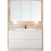 Мебель для ванной BelBagno Marino 120 напольная bianco lucido с зеркалом-шкафом