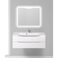 Мебель для ванной BelBagno Marino 120 подвесная bianco lucido с зеркалом-шкафом