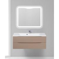 Мебель для ванной BelBagno Marino 120 подвесная capucino lucido с зеркалом-шкафом