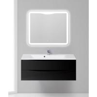 Мебель для ванной BelBagno Marino 120 подвесная nero lucido с зеркалом-шкафом