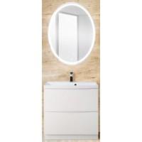 Мебель для ванной BelBagno Marino 60 напольная bianco lucido с овальным зеркалом
