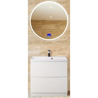 Мебель для ванной BelBagno Marino 60 напольная bianco lucido с зеркалом с bluetooth термометром и радио