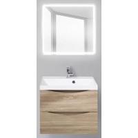Мебель для ванной BelBagno Marino 60 подвесная rovere bianco с квадратным зеркалом с электровыключателем