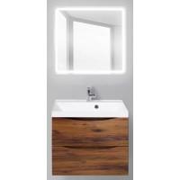 Мебель для ванной BelBagno Marino 60 подвесная rovere ciliegio с квадратным зеркалом с сенсорным выключателем
