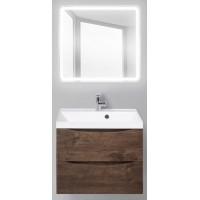 Мебель для ванной BelBagno Marino 60 подвесная rovere moro с квадратным зеркалом с электровыключателем