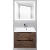 Мебель для ванной BelBagno Marino 60 подвесная rovere moro с квадратным зеркалом с сенсорным выключателем