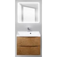 Мебель для ванной BelBagno Marino 60 подвесная rovere nature с квадратным зеркалом с электровыключателем