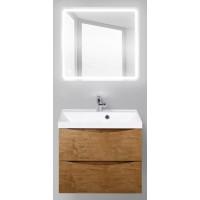 Мебель для ванной BelBagno Marino 60 подвесная rovere nature с квадратным зеркалом с сенсорным выключателем