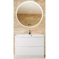 Мебель для ванной BelBagno Marino 80 напольная bianco lucido с зеркалом с подогревом