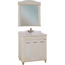 Мебель для ванной Bellezza Аллегро Люкс 100 бежевая патина золото