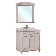 Мебель для ванной Bellezza Аллегро Люкс 120 бежевая патина темный орех