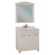 Мебель для ванной Bellezza Аллегро Люкс 120 бежевая патина золото