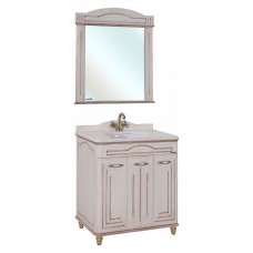 Мебель для ванной Bellezza Аллегро Люкс 80 бежевая патина темный орех