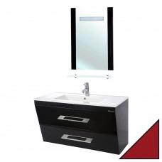 Мебель для ванной Bellezza Берта подвесная 100 красная