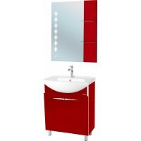 Мебель для ванной Bellezza Глория Гласс 65 бордо