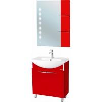 Мебель для ванной Bellezza Глория Гласс 65 красная