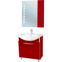 Мебель для ванной Bellezza Глория Гласс 75 бордо