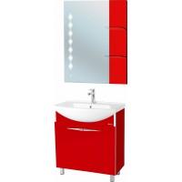 Мебель для ванной Bellezza Глория Гласс 75 красная