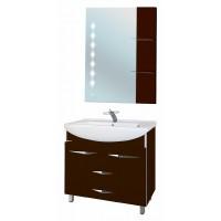 Мебель для ванной Bellezza Глория Гласс 90 коричневая