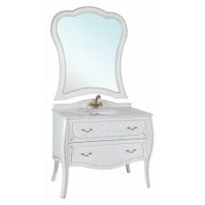 Мебель для ванной Bellezza Грация Люкс 110 белая патина золото