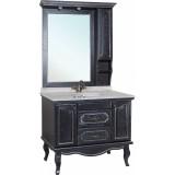 Мебель для ванной Bellezza Рим 100 черная патина серебро