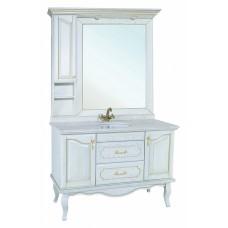 Мебель для ванной Bellezza Рим 110 белая патина золото