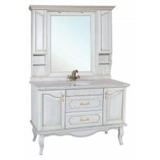 Мебель для ванной Bellezza Рим 120 белая патина золото