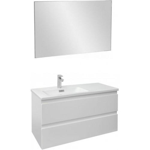 Мебель для ванной Jacob Delafon Madeleine 100 подвесная левая белая матовая