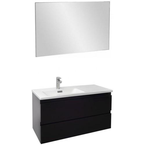 Мебель для ванной Jacob Delafon Madeleine 100 подвесная левая черный блестящий