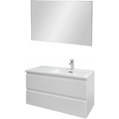 Мебель для ванной Jacob Delafon Madeleine 100 подвесная правая белая матовая