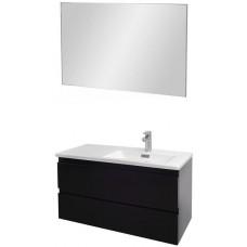 Мебель для ванной Jacob Delafon Madeleine 100 подвесная правая черный блестящий