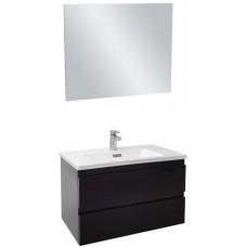 Мебель для ванной Jacob Delafon Madeleine 80 подвесная черный блестящий