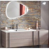 Мебель для ванной Jacob Delafon Nouvelle Vague 145 подвесная фактурный дуб раковина белая